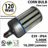 LED Bulb 600 Watt Equivalent 120w Corn Light 16,200 Lumens 5,000K