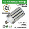 LED Bulb 750 Watt Equivalent 150w Corn Light 20250 Lumens 5000K