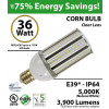 36W LED Corn Bulb Lamp 3900Lm 5000K IP64 E39 UL