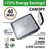 40W LED Canopy Light Ceiling Mount 5450Lm 5000K UL IP65