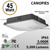 45W LED Canopy Light Ceiling Mount 5000K 5300 Lumens UL DLC IP65