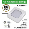 100W LED Canopy Light Ceiling Mount 11000 Lm 5000K IP65 UL