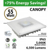 55W LED Canopy Light Ceiling Mount 6500 Lm 5000K DLC IP65 UL