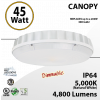 45W LED Canopy Light Ceiling Mount 5000K DIM 4800 Lumens UL DLC