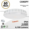 60W LED Canopy Light Ceiling Mount DIM 5000K 6100 Lumens UL DLC