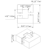 Square light pole base cover dimensions