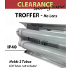 Shoplight open fixture, no lens for 2  4FT LED tubes