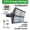 480W LED Floodlight 62400 Lm 5000K IP65 CE SAA UL