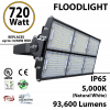 720W LED Floodlight 93600 Lm 5000K IP65 CE SAA