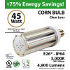 45w LED Corn Bulb 200 Watt HID Equivalent 4900Lm 3000K