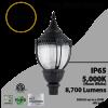 Post Top Acorn Decoration Light 80W 8700Lm 5000K