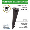 "10"" PVC High Density ground Stake for landscaping"