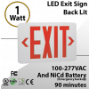 EXIT light Lighted EXIT sign back lit