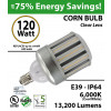 600 Watt LED Replacement Light 120w Corn Bulb 13200Lm 6000K