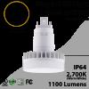 Plug In LED light G24Q or G24D 12W 1100Lm 2700K IP64 UL. Direct Line (Remove Ballast)