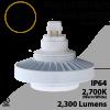 Plug In LED light G24Q or G24D 25W 2300Lm 2700K IP64 UL. Direct Line (Remove Ballast)
