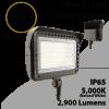 LED flood light 20W 5000K with knuckle mount 2900 lumens