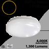 LED Flush Mount Ceiling light 4000K 15W 1300Lm