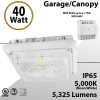 LED Canopy Light and Garage Lighting 40W 5000K 5325 Lumens