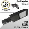 100W LED Shoebox Street Light fixture 13018Lm 5000