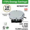120w LED retrofit kit  replacement for 550 Watt HID 1390 lumens