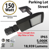 150W LED Shoebox Street Light fixture  18939Lm 5000K UL IP67 DLC