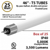 LED T5 Bulb tube Lights 25W 3500Lm 5000K By-Pass 2 end power