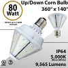 LED Corn Bulb 80W 9565Lm 5000K UP or DOWN E39 IP64 UL