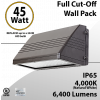 LED Wal Pack Lights 45W 6400 Lm DLC 4000K
