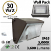 LED Wall Pack light 30W 3600Lm DLC 5000K