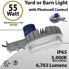 LED Yard Light LED Barn Light w/Photocell Control 55W 6703 Lumens