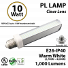 10W, PL LED Bulb lamp, 2700K, E26, UL. Direct Line (Remove Ballast)