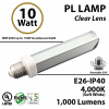 10W, PL LED Bulb lamp, 4000K, E26, UL.  Direct Line (Remove Ballast)