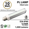 10W, PL LED Bulb lamp, 6500K, E26, UL.  Direct Line (Remove Ballast)