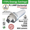7W PL LED lamp 800Lm 4000K Frosted Ballast compatible G23 IP40 UL.