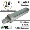 10W PL LED Bulb lamp 1000Lm 3000K G23 IP40 UL.  Direct Line (Remove Ballast)