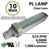 10W PL LED Bulb lamp 1000Lm 4000K G23 IP40 UL. Direct Line (Remove Ballast)
