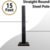 Light Pole Steel Straight Round 15Ft by 4inch 11G
