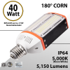 150W Metal Halide Led Replacement 40W 5000K