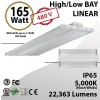 LED Linear High Bay 480V Fixture 2Ft. 165W 22363 Lumens 5000K UL DLC