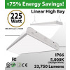 4Ft LED Linear High Bay 225W 33750 Lm 5000K removable diffusor