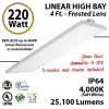 4Ft LED Linear High Bay Fixture 220W 26700 LM 4000K UL DLC