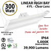 4Ft LED Linear High Bay Fixture 300W 39900 Lumens 5000K UL DLC