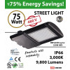 75w LED Street pole lamp Fixture 350 Watt HID Equivalent 480v 3000K