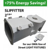 "Slipfitter 2 3/8"". WHITE Pole Mount Adjustable bracket for OMA-GWE/GNE Series"