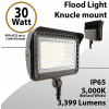 LED flood light 30W 5000K with knuckle mount 3999 lumens