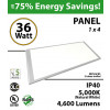 36W LED Panel 1 x 4 4600 Lumens 5000K IP40 UL DLC