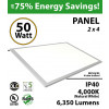 50W LED Panel 2 x 4 6350 Lumens 4000K IP40 UL