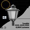 LED Post Light 30W LED Lantern Style 4064Lm 3000K 4000K 5000K ETL DLC