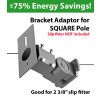 Bracket adapter for square pole to slip fitter